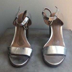 Coach Silver Patent Leather Heels